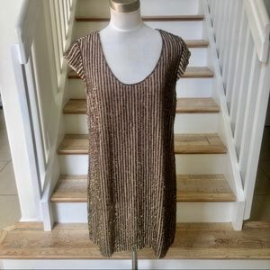 French Connection brown sequins mini dress. Size 8
